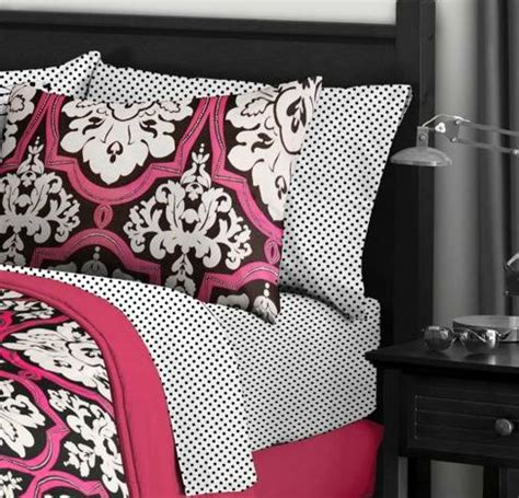 pink and black bedroom set 9t black white pink damask comforter bedding set size
