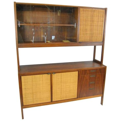 mid century modern rosewood china cabinet with