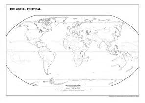 World Political Map Outline Printable by Blank Map Of The World Worksheet Davezan