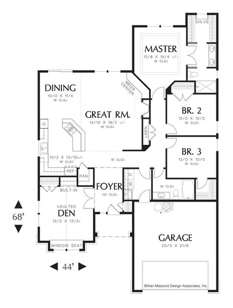 mascord floor plans mascord house plan 1103ba craftsman style plan plan and craftsman