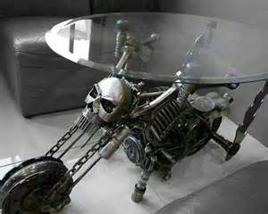 skull motorcycle glass end table dark gothic pinterest skulls glasses and motorcycles