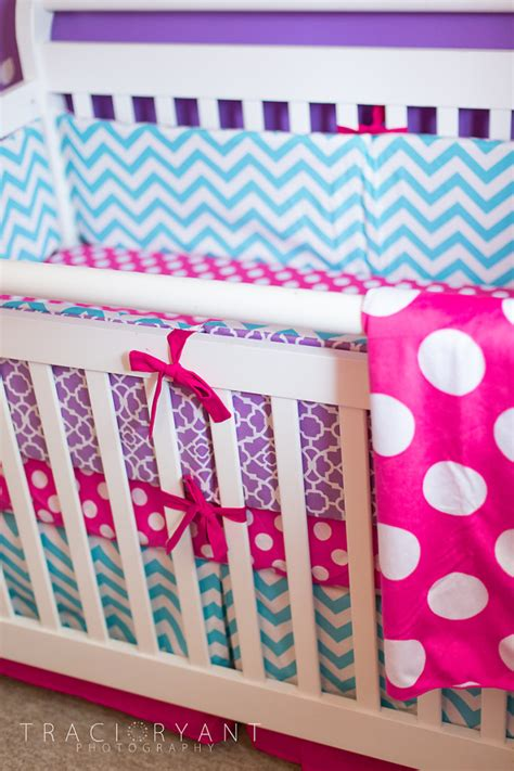 girly crib bedding girly chevron and polka dots turquoise chevron crib and