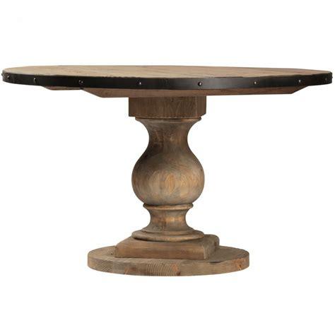farmhouse  pedestal dining room table  zin home