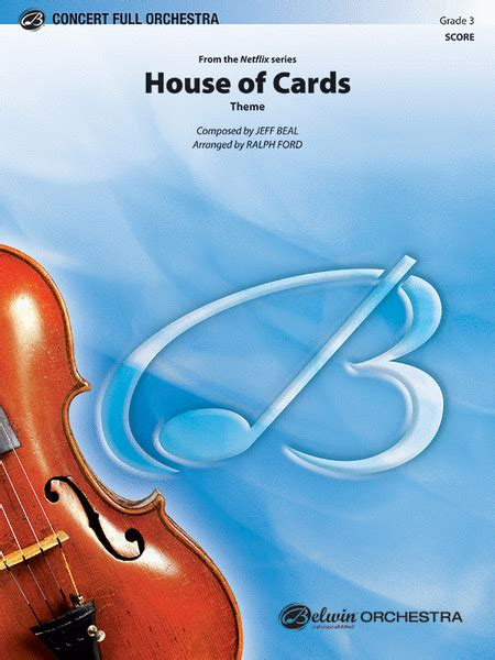 theme music house of cards house of cards theme sheet music by jeff beal sheet music plus