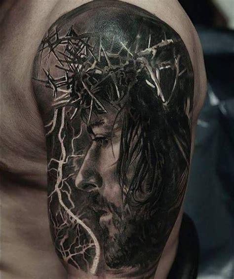 imagenes de tatuajes de jesus de nazaret tatuaje de jesucristo en el brazo izquierdo pinteres
