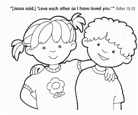 coloring pages for one another christian coloring pictures coloring pages