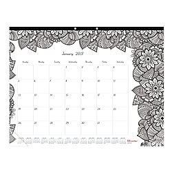 doodle calendar alternative blueline doodleplan coloring monthly desk pad calendar 22