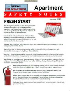 Apartment Newsletter Topics Spokane Department S Jan 2015 Apartment Safety Notes