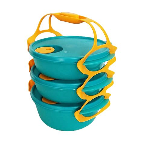 Carry Bowl All Set by Jual Tupperware Carry All Bowl Hijau Set Tempat Makan