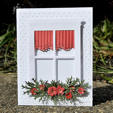 card christmas window window cards pinterest