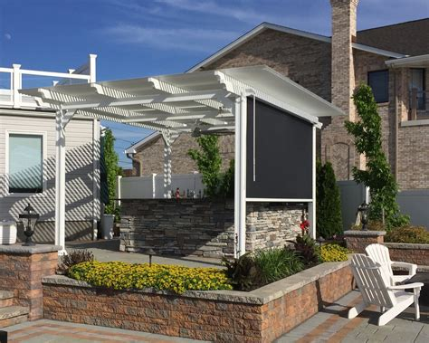 louvered patio covers louvered pergola covers shade and shutter systems inc
