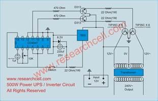 3 phase ups sine wave schematic diagram datasheet circuit