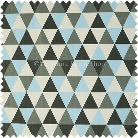 geometric pattern upholstery designer geometric triangle pattern blue white grey