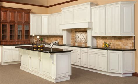 White Kitchen Cabinets With Glaze Kitchen Cabinets Antique White Chocolate Glaze Quicua