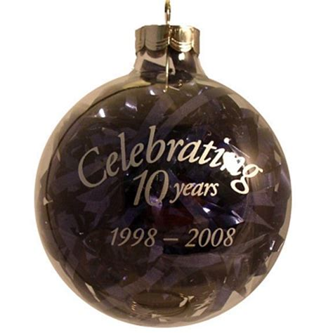 10 year anniversary custom christmas ornament