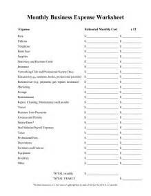 best photos of expense worksheet template printable