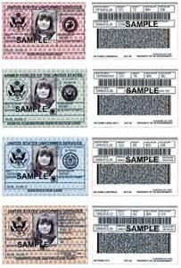 us army id card template id card sle