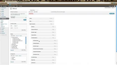 wordpress tutorial youtube wordpress tutorial creating menus in elegant themes