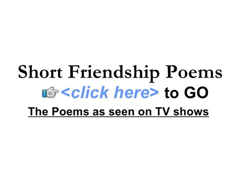 Very Short Friendship Poems   poems about friendship short friendship poems cute