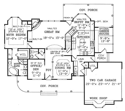 Greenhouse Floor Plan by Optional Greenhouse 3850ja 1st Floor Master Suite