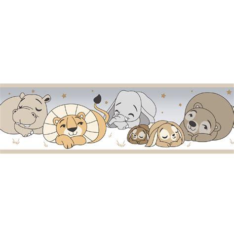 bordure kinderzimmer braun tapetenborte bord 252 re tier baby rasch textil braun 330426