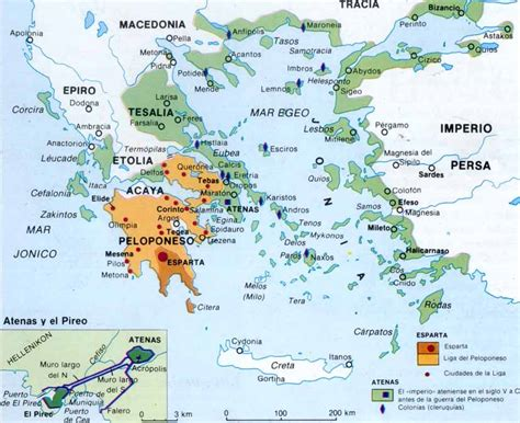 historia antigua mapa de la antigua grecia