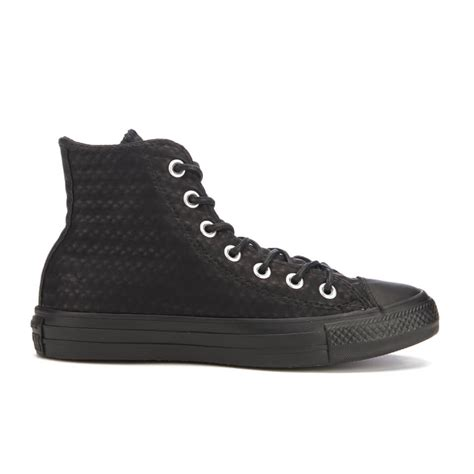 Jual Converse Leather Hi converse s chuck all craft leather hi top trainers black monochrome free