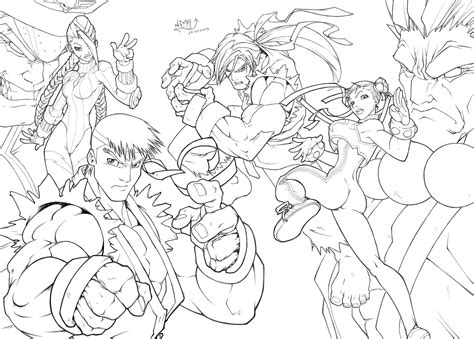 8 Images Of Street Fighter Coloring Pages Street Fighter Fighter Coloring Pages