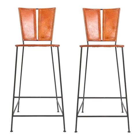 unique bar stools for sale pair of custom made leather bar stools france circa 1960
