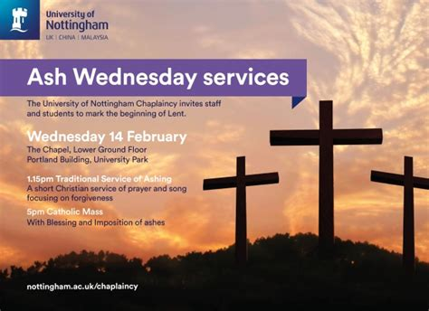 ash wednesday in england ash wednesday services cus news