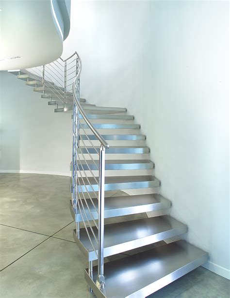 edelstahl treppe stainless steel cantilever staircase metal stacked