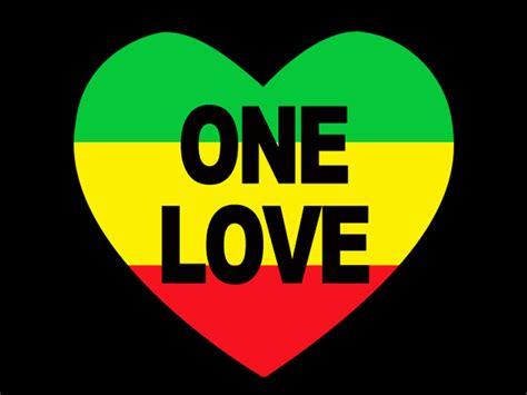 one love one love rasta colors heart black tee shirt rasta products com