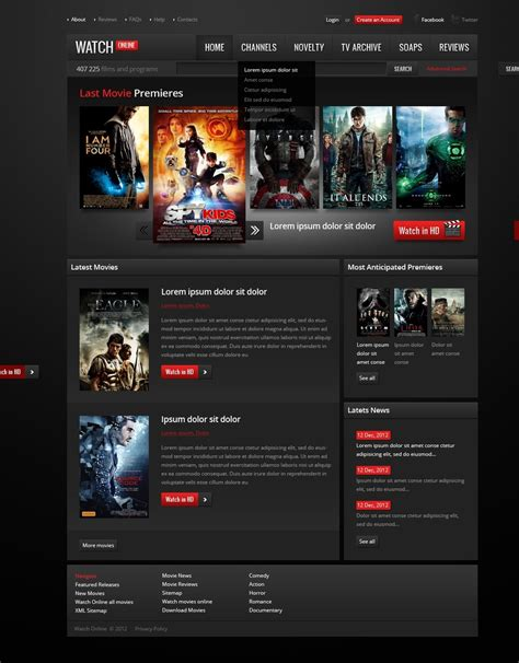 movie website template 38511
