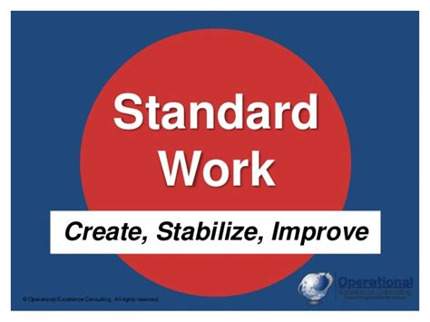 work pictures lean standard work the key to stable consistent
