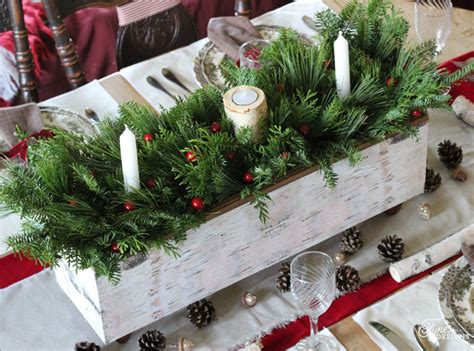 wooden christmas craft centerpieces 42 stunning table decorations