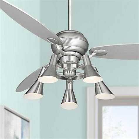 compare price 60in ceiling fan on statements ltd 60 quot spyder brushed steel ceiling fan with 5 light kit