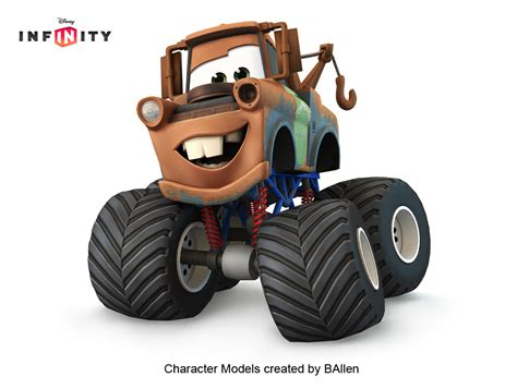 mater monster truck video artstation mater monster truck disney infinity by