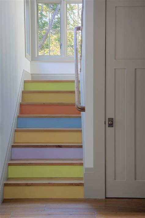 Painted Stairs Design Ideas Decorative Stair Risers With Designs For All Tastes