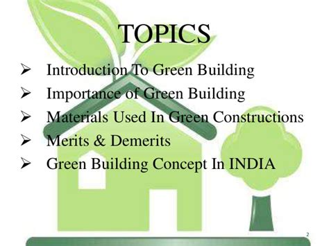 Green Building Materials Green Building Concept Ppt