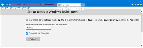 windows 10 mobile development tutorial device portal connect to for windows 10 mobile phone