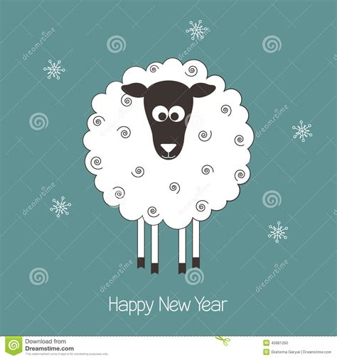 new year sheep images new year sheep stock vector image 45881260