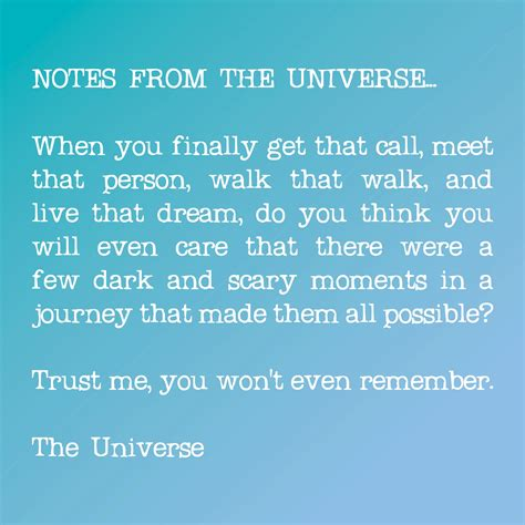 notes from the universe quotes quotesgram