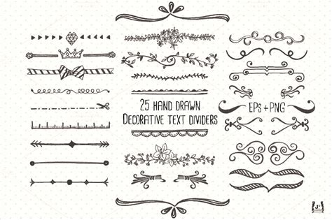 decorative line css chalkboard text divider clip art objects on creative market