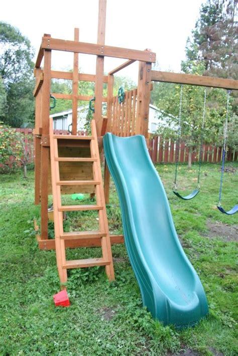 swing set with fort backyard swing set fort by pinkfish lumberjocks com