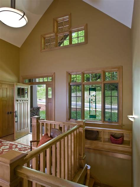 craftsman entryway  vaulted ceiling hgtv
