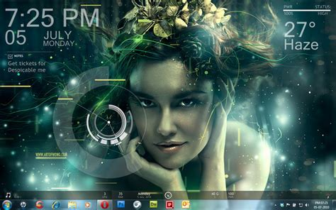 live rain themes download my rainmeter desktop by merlinvicki on deviantart