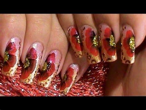 easy nail art poppy design one stroke 17 best images about one stroke nail art on pinterest