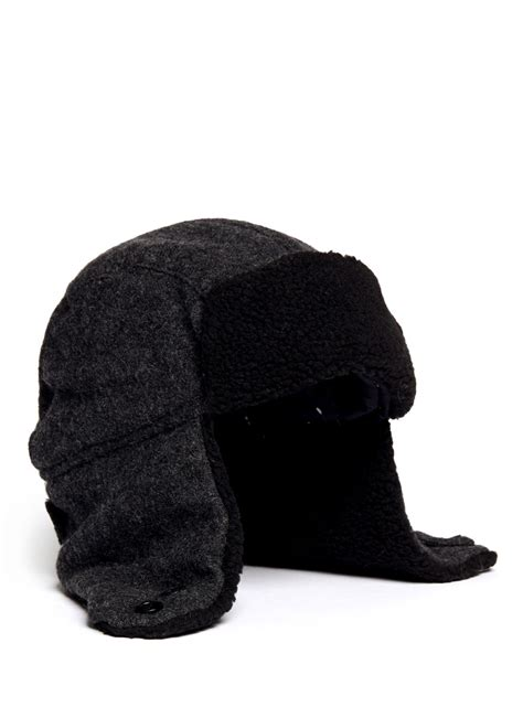 paul smith wool trapper hat in gray for lyst