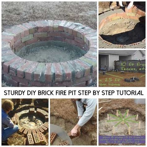 Diy Brick Pit Tutorial Pit Design Ideas Sturdy Diy Brick Pit Step By Step Tutorial Shtf Prepping Homesteading Central