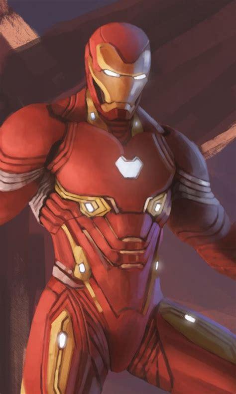 wallpaper iron man nanosuit avengers